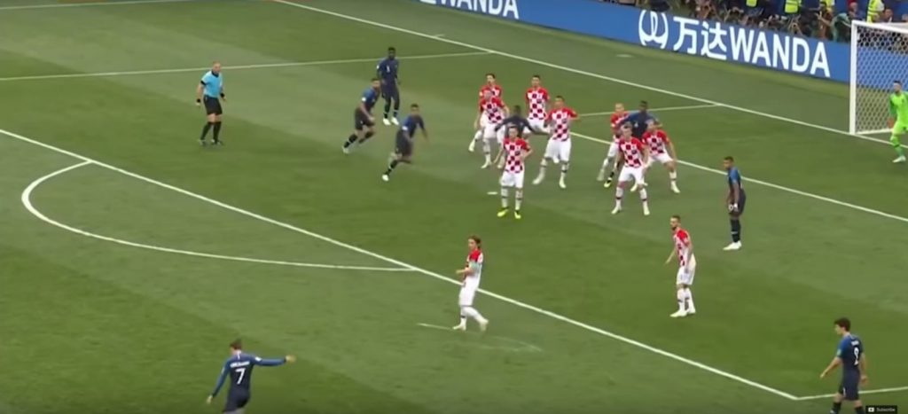 Immagine primo goal Francia