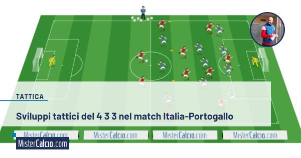 Sviluppi tattici del 4 3 3 nel match Italia-Portogallo - facebook