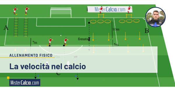 la velocità nel calcio