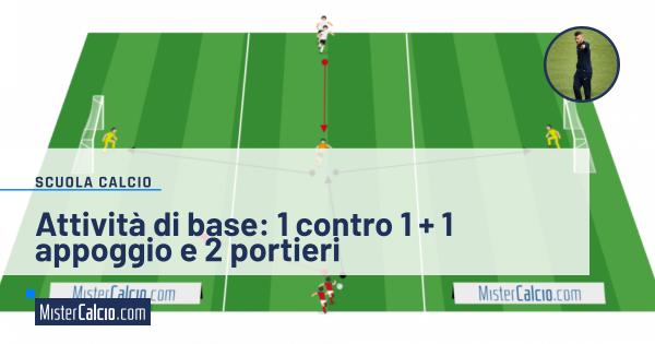1 contro 1 con 1 appoggio e 2 portieri