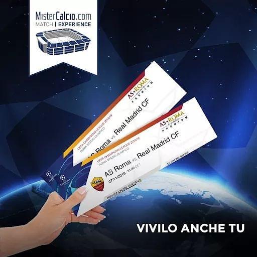 Biglietti Roma vs Real Madrid