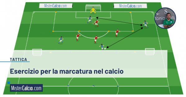 Esercizio per la marcatura nel calcio