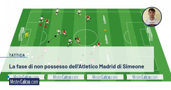 La fase di non possesso dell'Atletico Madrid di Simeone