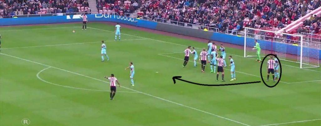Sunderland West Ham calcio d'angolo marcatura a uomo