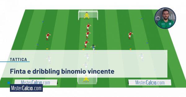 finta e dribbling nel calcio