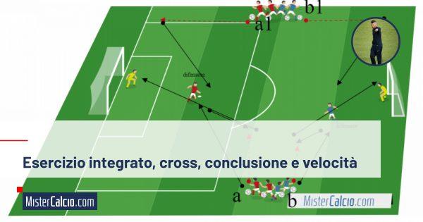 Esercizio integrato, cross, conclusione e velocità