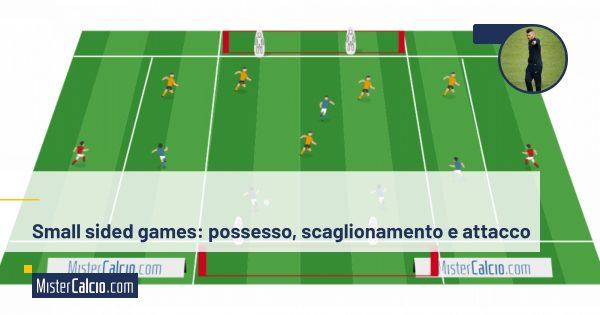 Small sided games, possesso, scaglionamento, attacco alla linea avversaria
