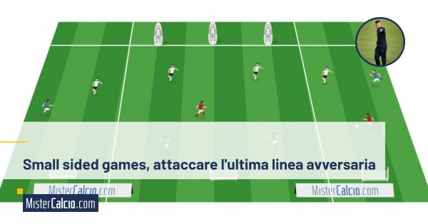 Small sided games attaccare l'ultima linea avversaria