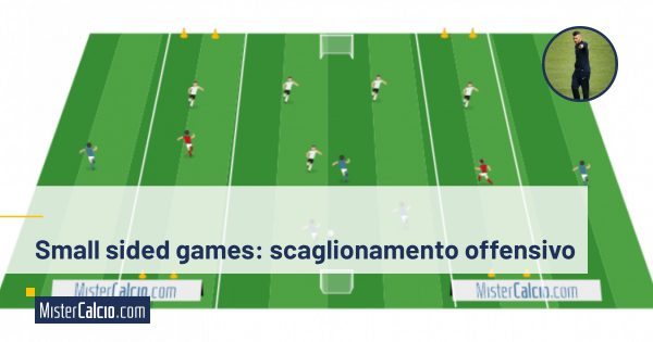Small sided games, scaglionamento offensivo, muovo l'avversario