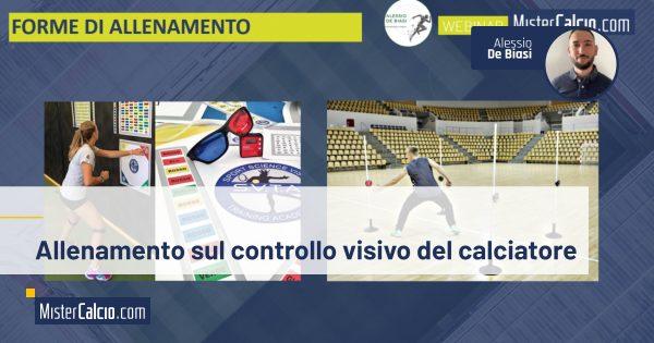allenamento sul controllo visivo del calciatore